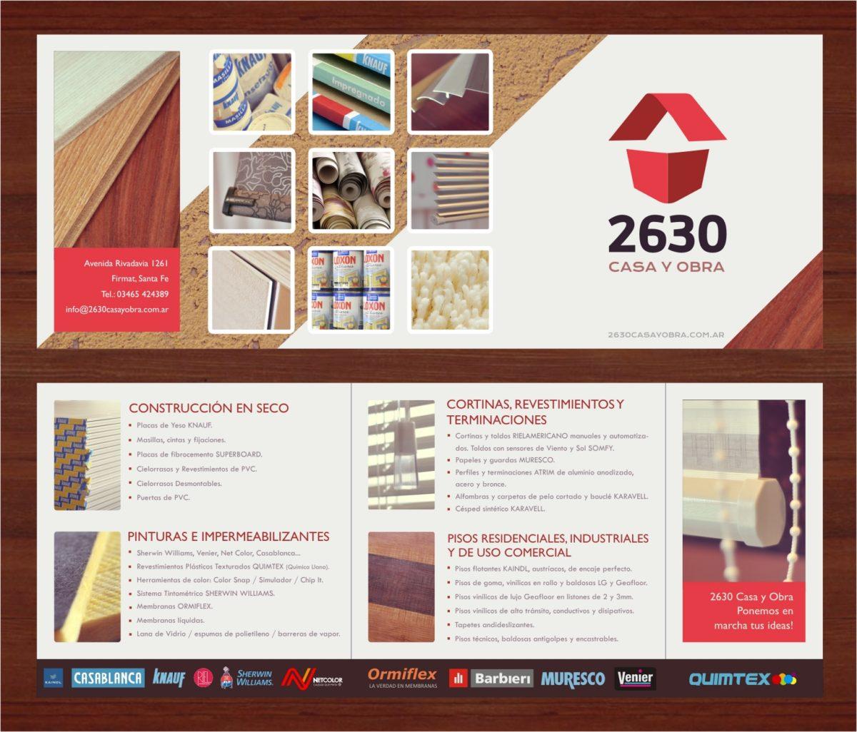 Folleto Tríptico «2630 Casa y Obra»