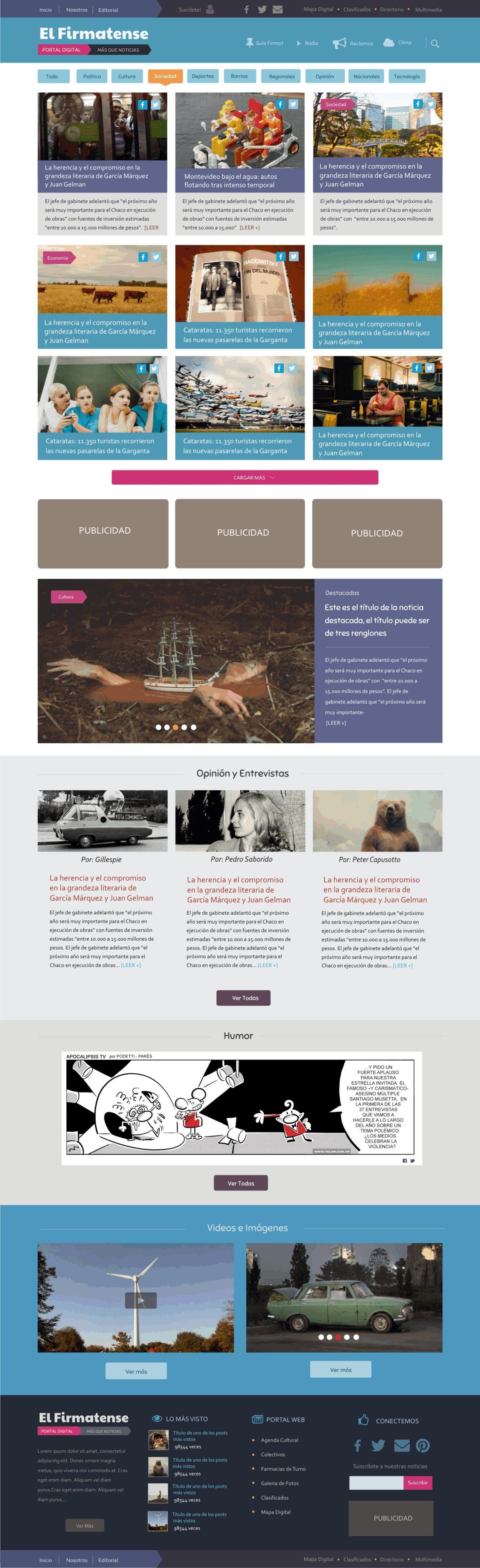 Diseño Web «Diario El Firmatense»