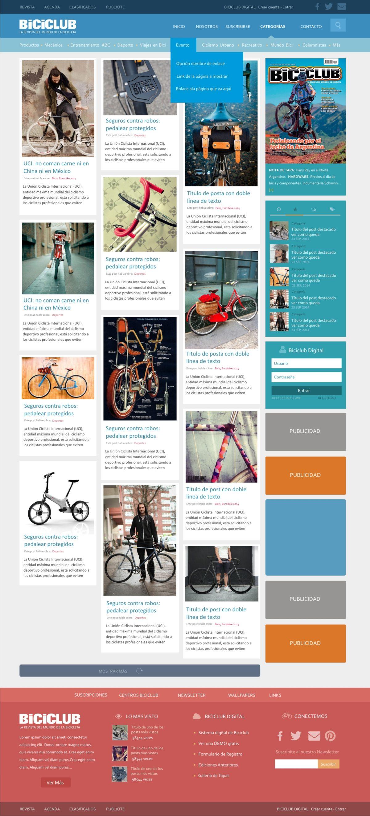Diseño Web «Revista Biciclub»