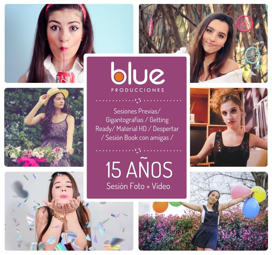 Flyers Facebook para «Blue Producciones»