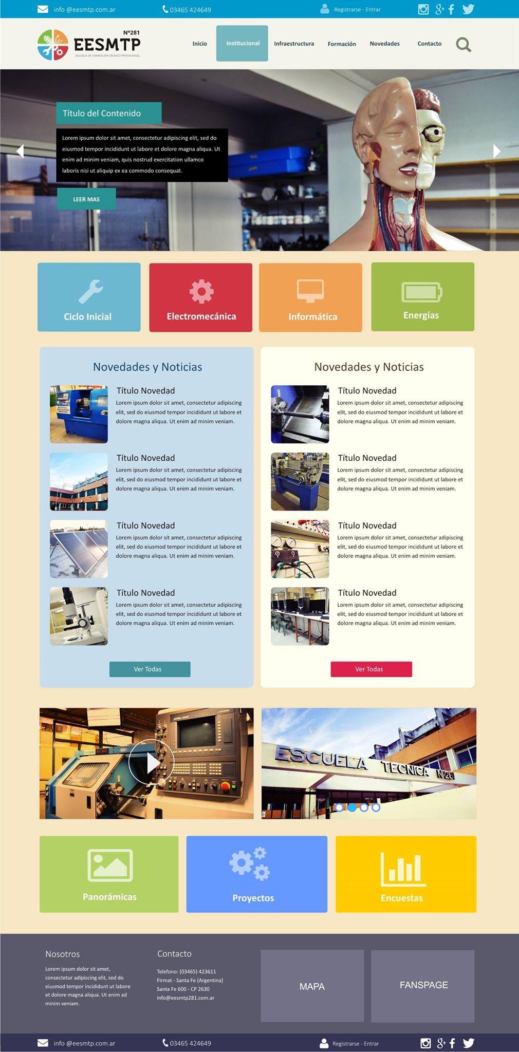 Diseño Web Institucional para EET 281
