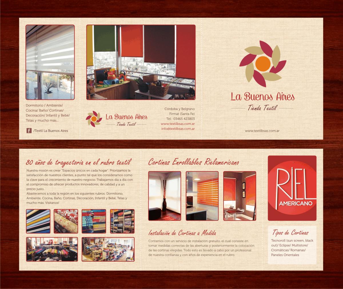 Diseño Folleto Tríptico «Textil La Buenos Aires»