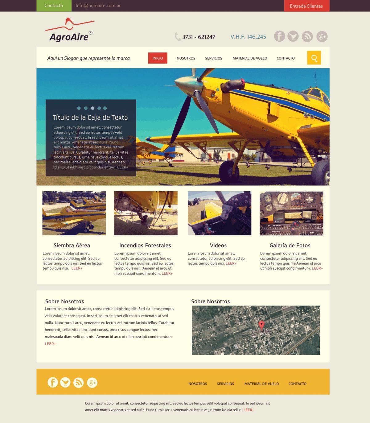 Diseño Web «Agroaire»