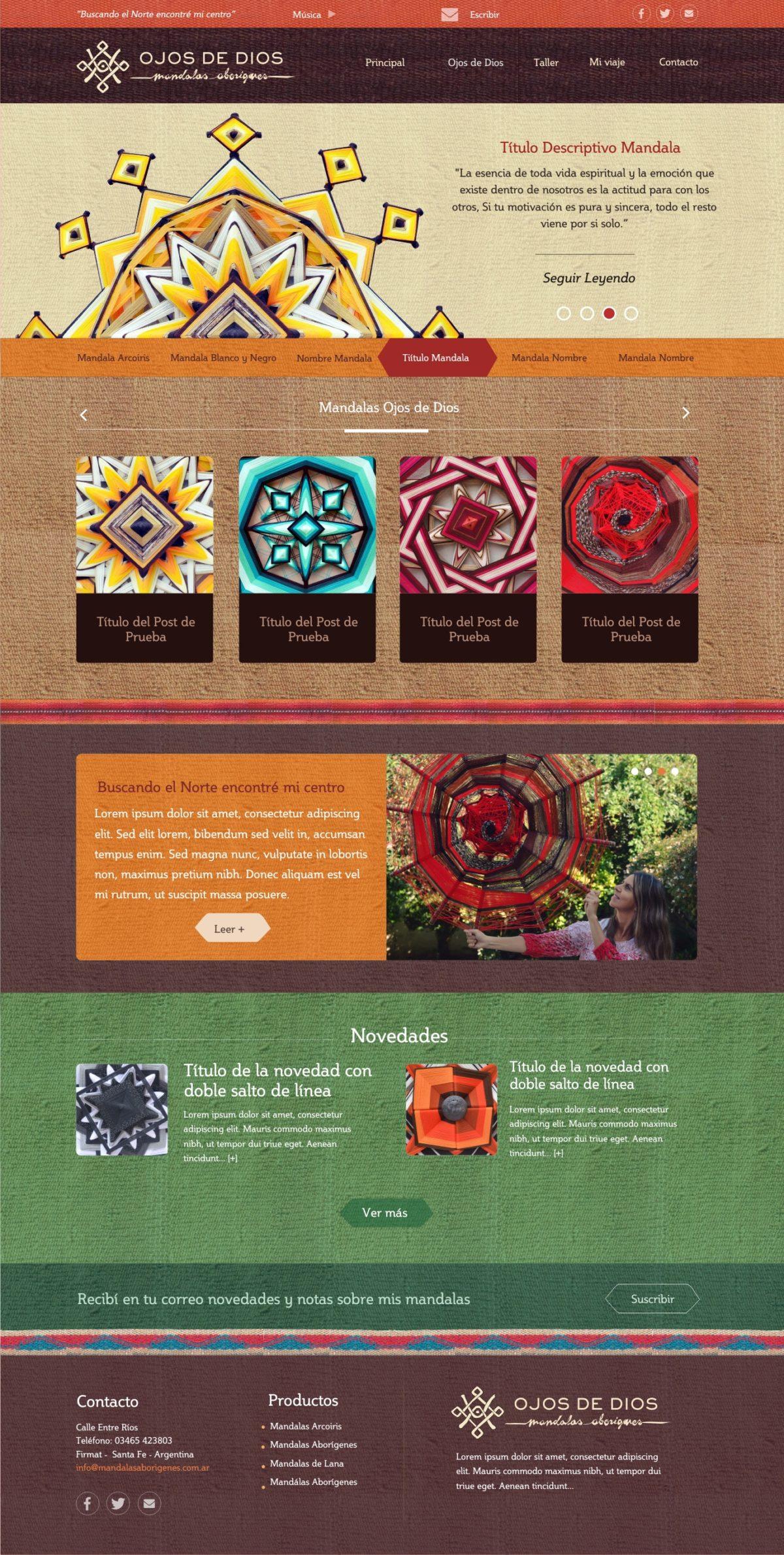 Diseño Web a Medida «Mandalas Aborígenes»