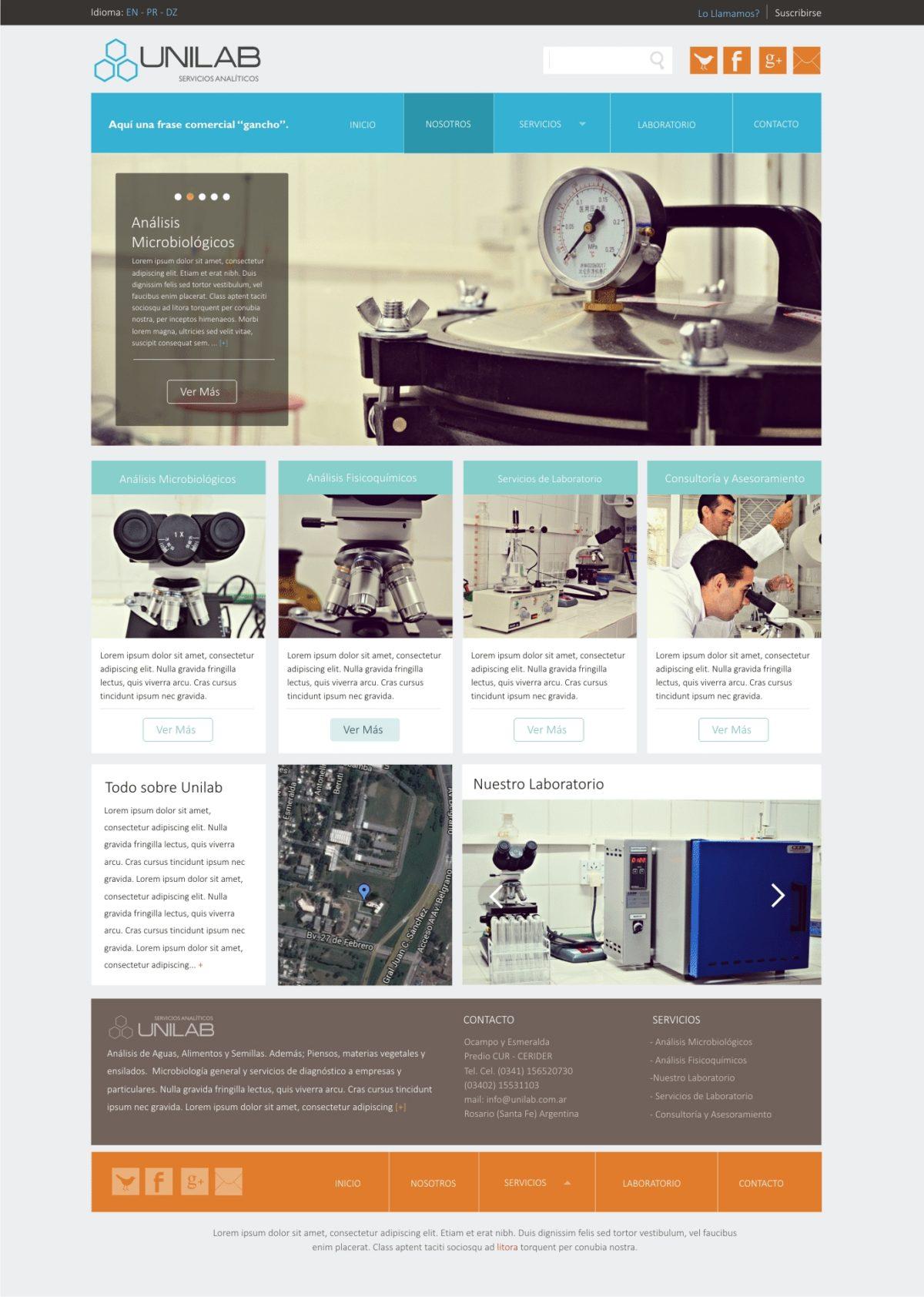 Diseño Web «Laboratorio Unilab»