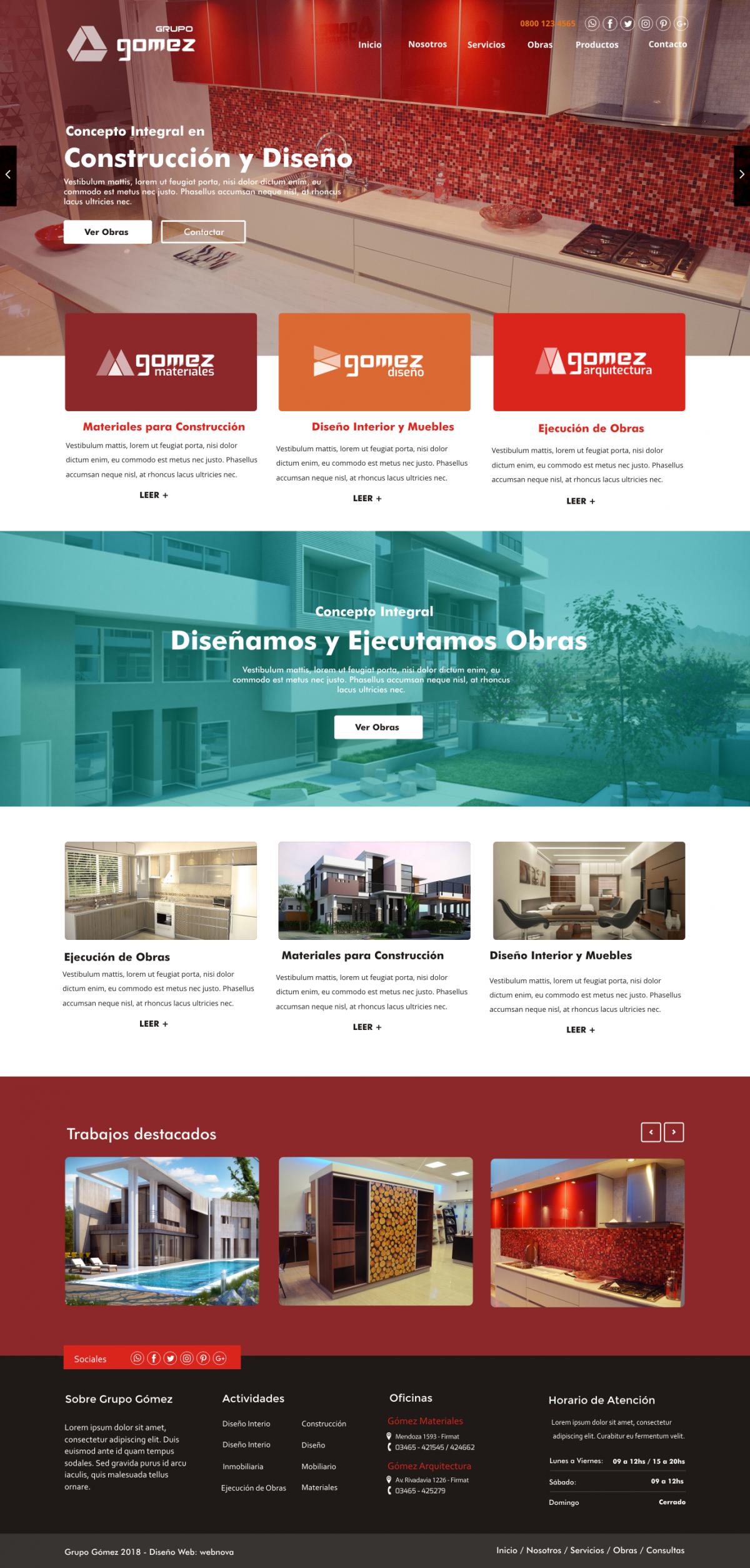 Diseño Web a Medida «Grupo GOMEZ»