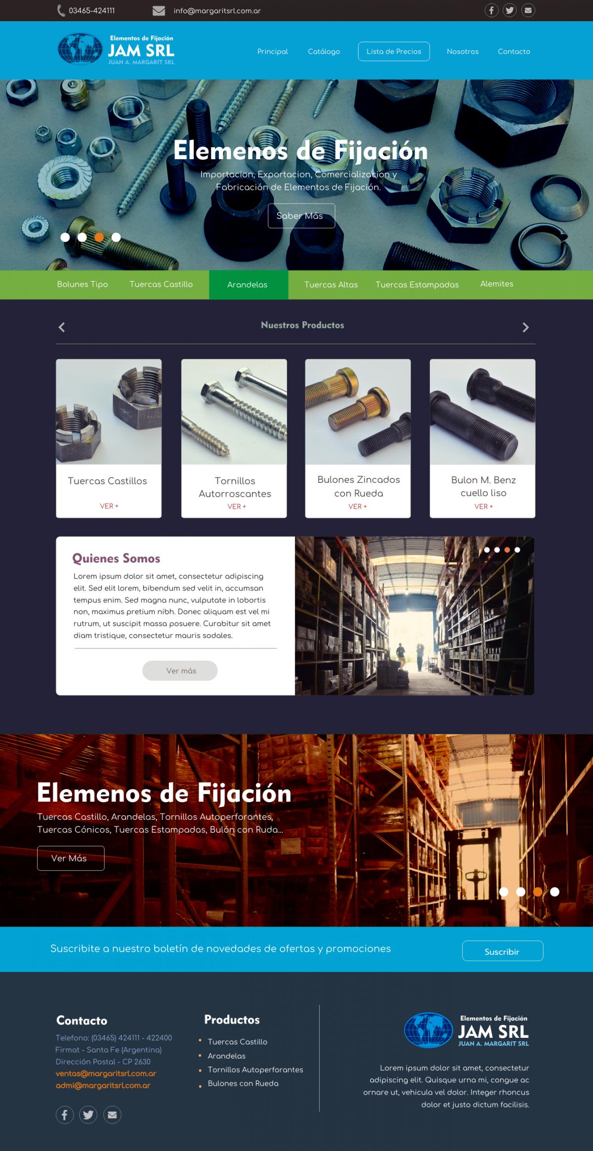Diseño Web a Medida «Margarit SRL»