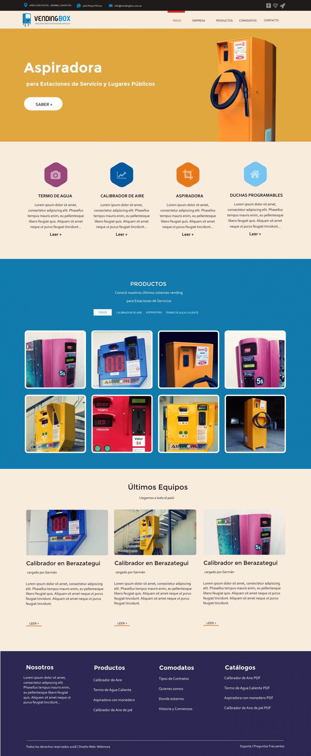 Diseño Web a Medida «VENDING BOX»