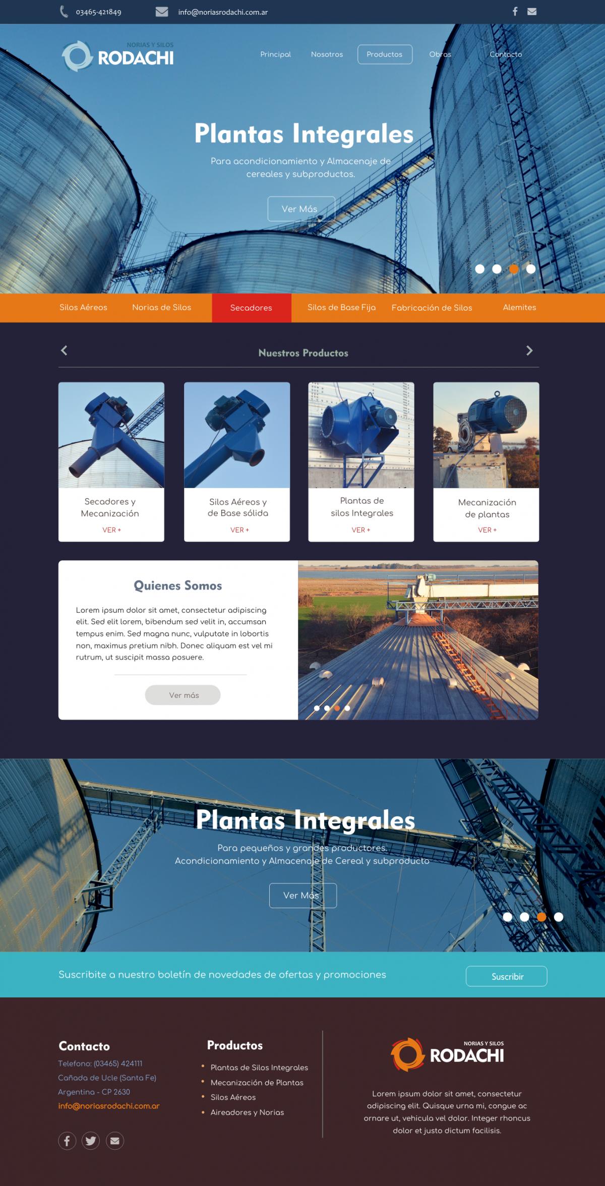 Diseño Web a Medida «RODACHI Norias y Silos»