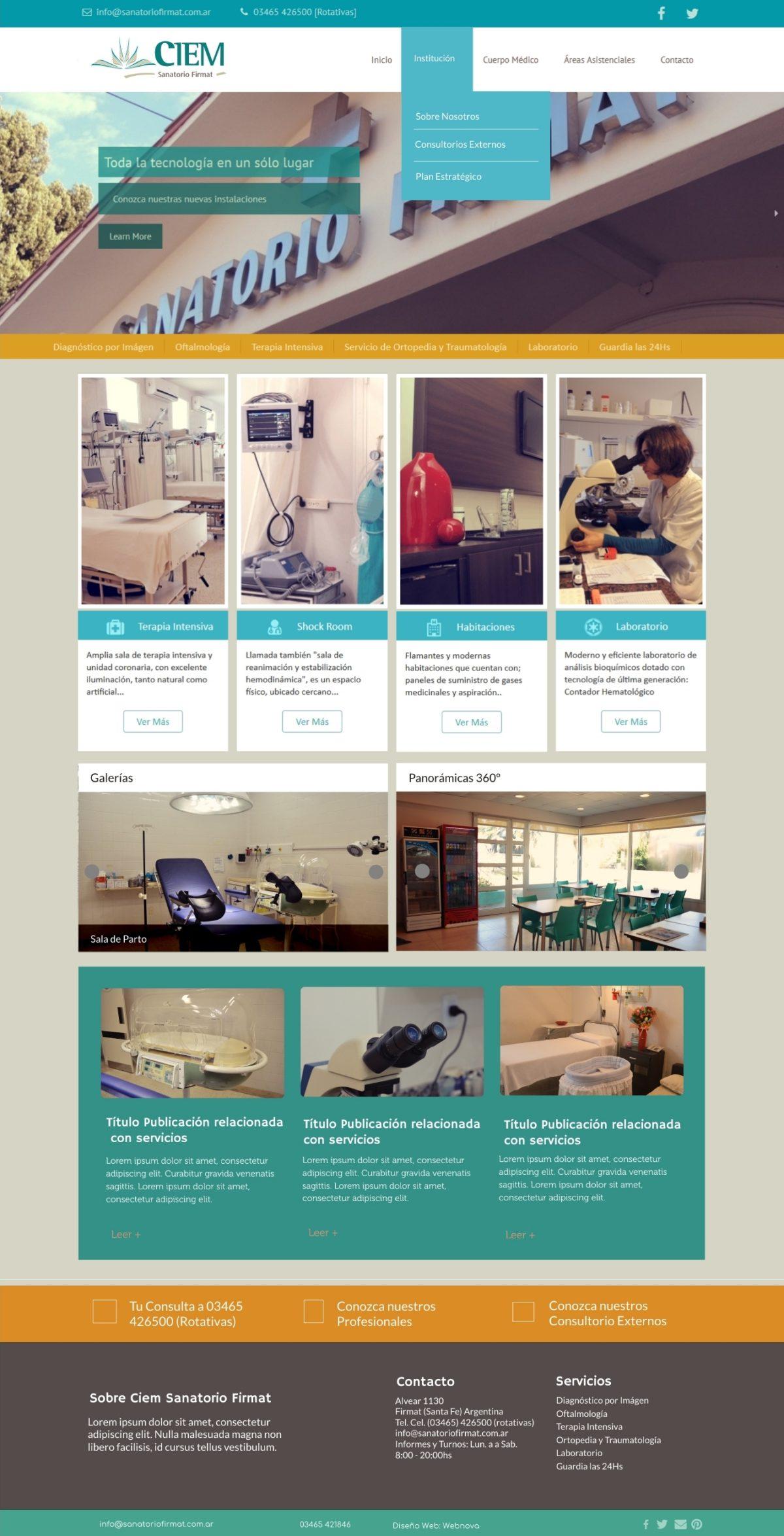 Diseño Web a Medida «CIEM Sanatorio Firmat»