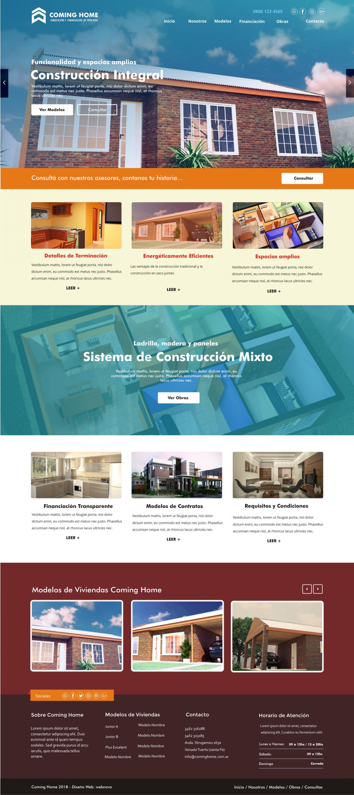 Diseño Web a Medida «COMING HOME»