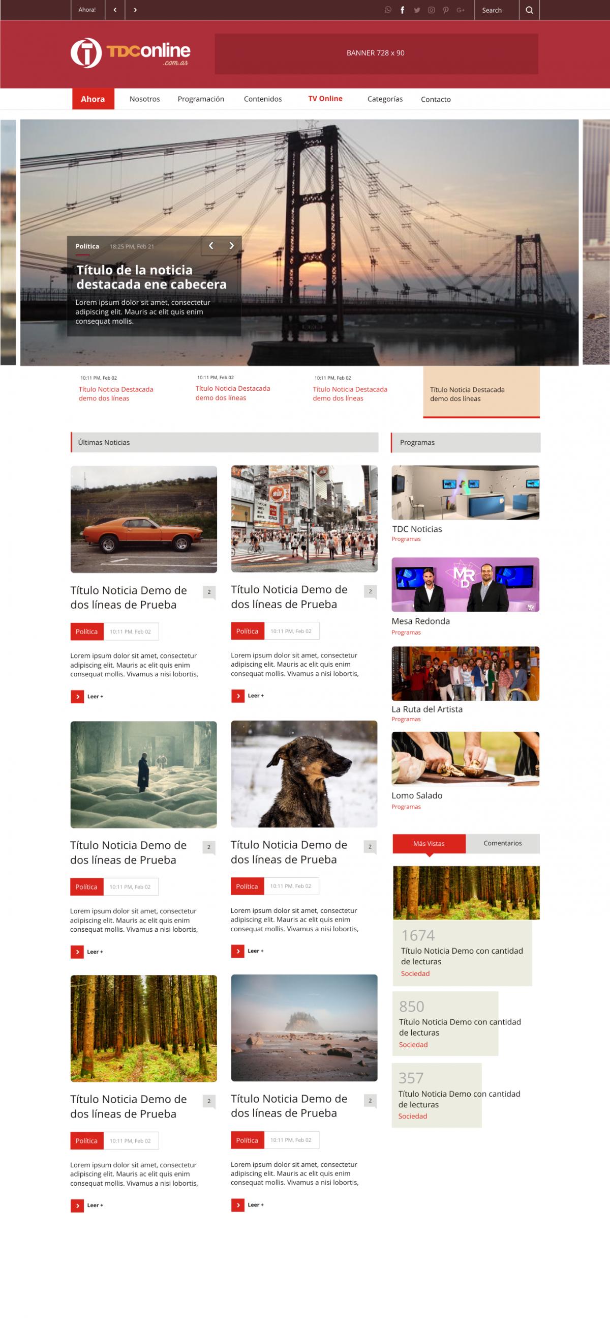Diseño Web a Medida «TDC Online»