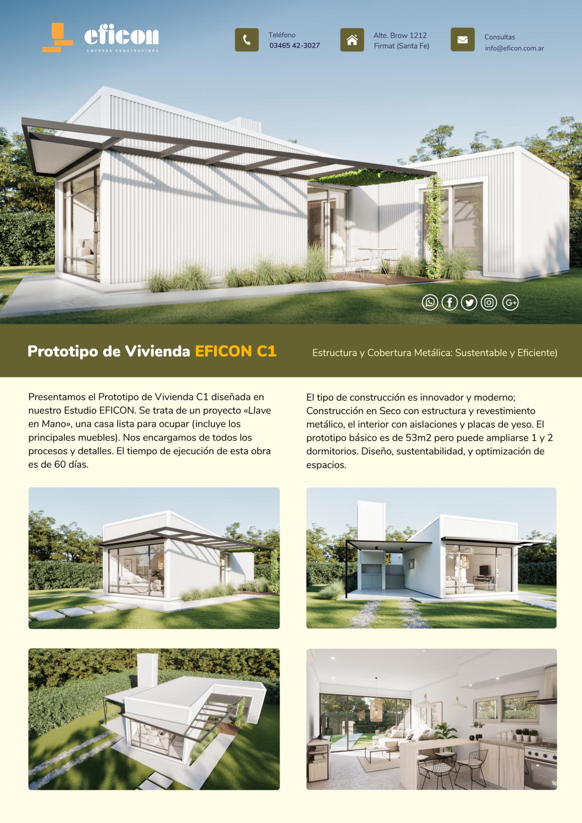 Folleto Prototipo de Vivienda Steel frame