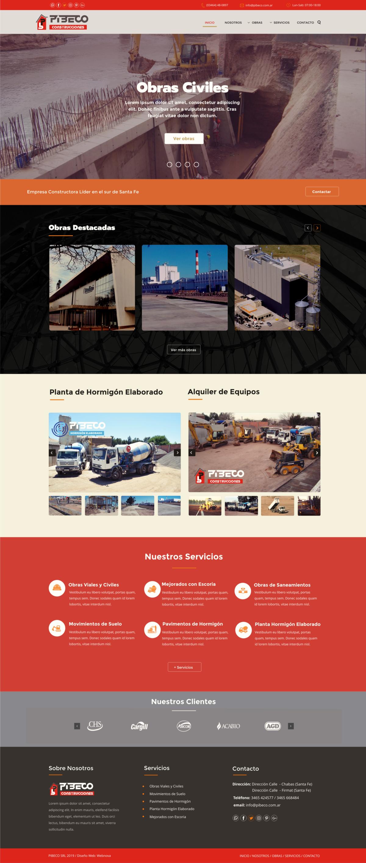 Diseño Web Constructora Pibeco